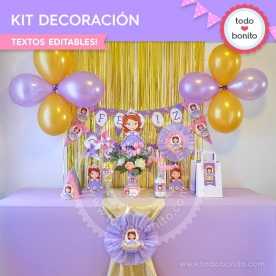 Princesita Sofia: kit imprimible decoración de fiesta