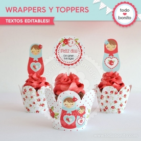 Matryoshka:  wrappers y toppers