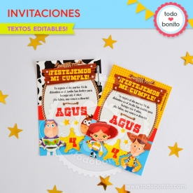 Toy Story: invitación imprimible y digital