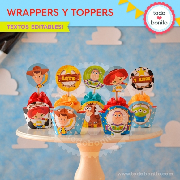 Toy Story: wrappers y toppers