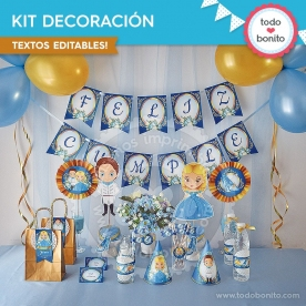 Cenicienta: kit imprimible decoración de fiesta