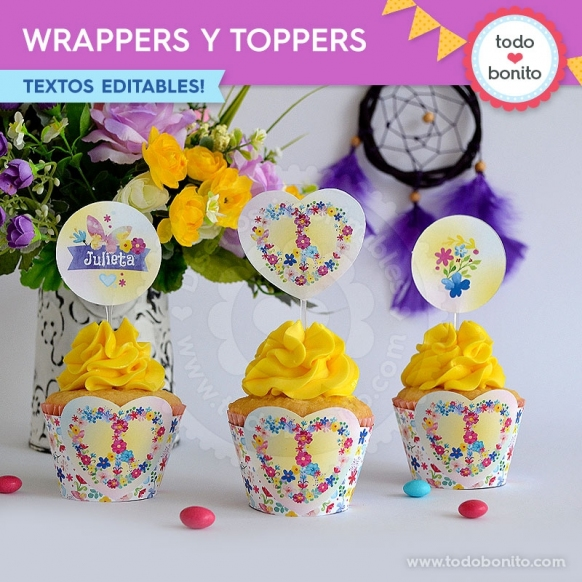 Amor y Paz: wrappers y toppers