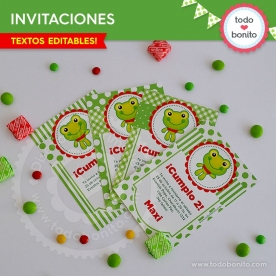 Sapo: invitación imprimible y digital
