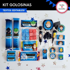 Star Wars: kit etiquetas de golosinas