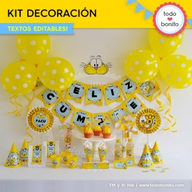 Gaturro: kit imprimible decoración de fiesta