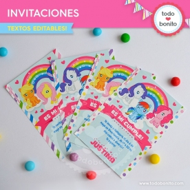 Pony: invitación imprimible y digital