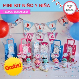 *GRATIS * Mini Kit imprimible Niña y Niño