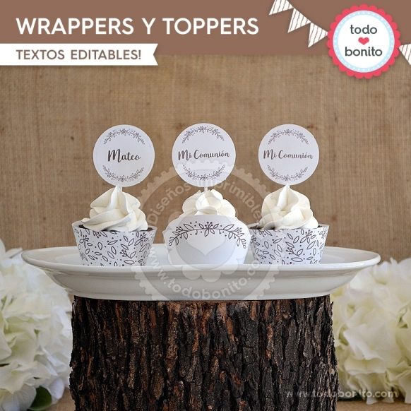 Rústico: wrappers y toppers