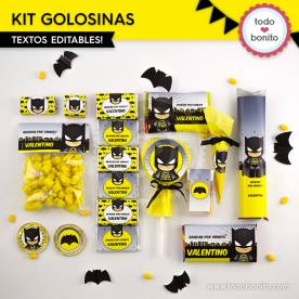 Batman: kit etiquetas de golosinas