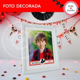 Orejas Mickey Rojo: foto decorada