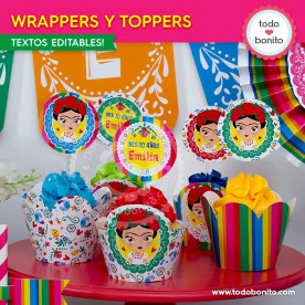 Frida: wrappers y toppers