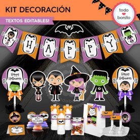 Halloween 01: kit imprimible decoración de fiesta