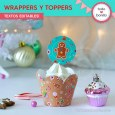Dulce Navidad: wrappers y toppers