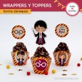 Harry Potter: wrappers y toppers