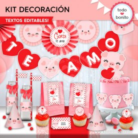 Cerdito: kit imprimible decoración de fiesta