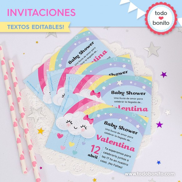 Lluvia de amor: invitación imprimible y digital
