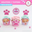 Cachorros Skye: wrappers y toppers para cupcakes