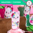 Llamas: wrappers y toppers