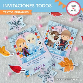 Frozen 2: invitación imprimible y digital MOD todos