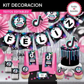 TikTok: kit imprimible decoración de fiesta